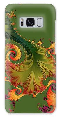 Galaxy Case featuring the digital art Rain Forest by Susan Maxwell Schmidt