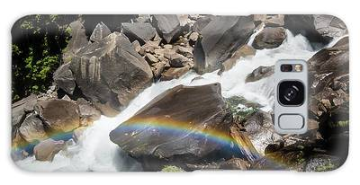 Rainbow At Vernal Falls- Galaxy Case