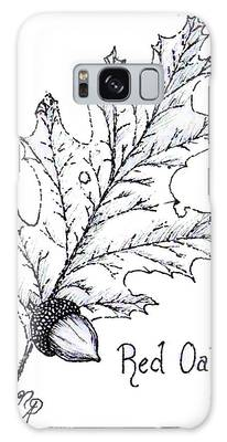 Red Oak Leaf And Acorn Galaxy Case