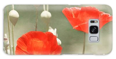Red Poppies Galaxy Case