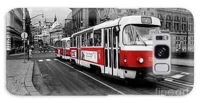 Prague - Red Tram Galaxy Case