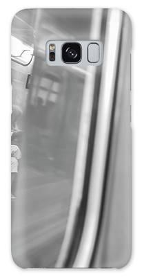 Reflections In New York City Subway Galaxy Case by Ranjay Mitra