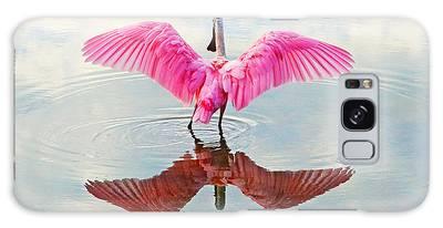 Roseate Spoonbill Pink Angel Galaxy Case