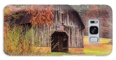 Rustic Barn In Autumn Galaxy Case