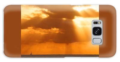Sailboat Bathed In Hazy Rays Galaxy Case