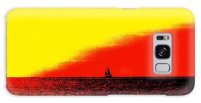 Sailboat Horizon Poster Galaxy Case