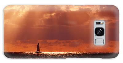 Sailboat Sun Rays Galaxy Case