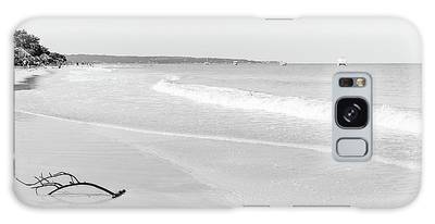 Sand Meets The Sea In Black And White Galaxy Case