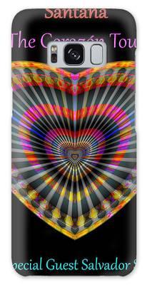 Santana The Corazon Tour Galaxy Case by Visual Artist Frank Bonilla