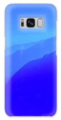 Sapphire Morning Galaxy Case by Susan Maxwell Schmidt