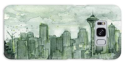 Seattle Skyline Galaxy Cases