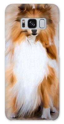 Galaxy Case featuring the photograph Shetland Sheepdog - Sheltie by Ericamaxine Price