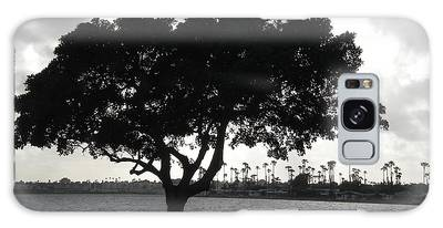 Silhouette Of Tree Galaxy Case
