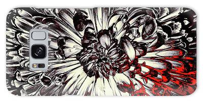 Galaxy Case featuring the mixed media Sin City by Susan Maxwell Schmidt