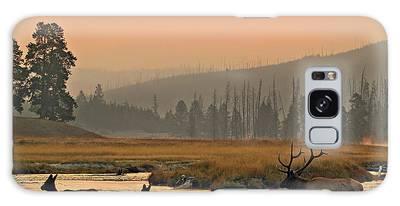 Smokey Elk Crossing Galaxy Case