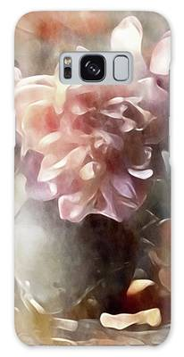 Galaxy Case featuring the mixed media Soft Pastel Peonies by Susan Maxwell Schmidt