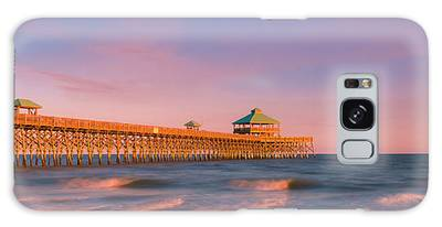 Galaxy Case featuring the photograph South Carolina Fishing Pier At Sunset Panorama by Ranjay Mitra