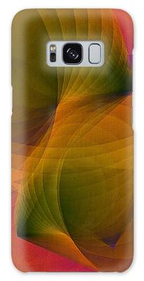 Galaxy Case featuring the digital art Spiraling Insight With Complicated Continuation by Susan Maxwell Schmidt