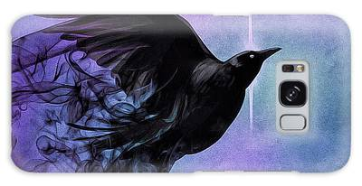 Galaxy Case featuring the digital art Spirit Raven by Susan Maxwell Schmidt