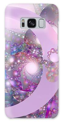 Spring Moon Bubble Fractal Galaxy Case