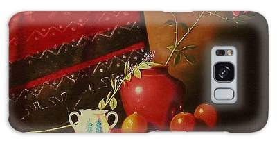 Still Life With Red Vase. Galaxy Case