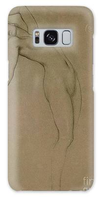 Erotic Female Drawings Galaxy Cases