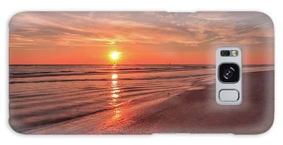 Sunburst At Sunset Galaxy Case