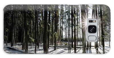 Galaxy Case featuring the photograph Sundial Forest by Brad Allen Fine Art
