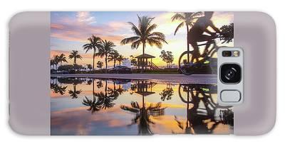 Sunrise Cyclist Delray Beach Florida Galaxy Case