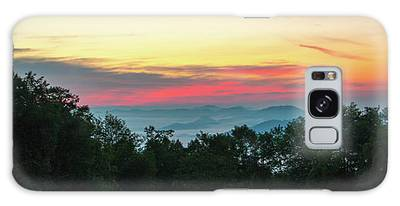 Sunrise From Maggie Valley August 16 2015 Galaxy Case