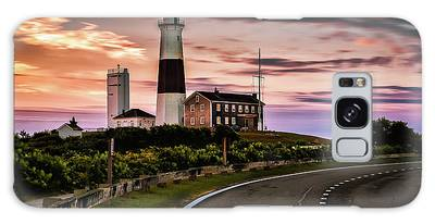Sunrise Road To The Montauk Lighthous Galaxy Case