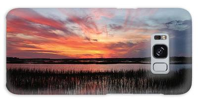 Galaxy Case featuring the photograph Sunset And Reflections 2 by Cynthia Guinn