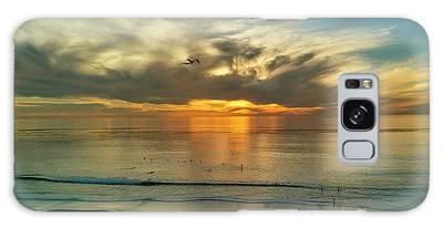 Sunset At Carlsbad Galaxy Case