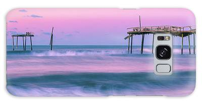 Galaxy Case featuring the photograph Sunset At Frisco Fishing Pier Panorama by Ranjay Mitra