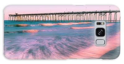 Galaxy Case featuring the photograph Sunset At Kure Beach Fishing Pier Panorama by Ranjay Mitra