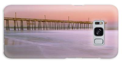Galaxy Case featuring the photograph Sunset At Rodanthe Fishing Pier In Obx Panorama by Ranjay Mitra