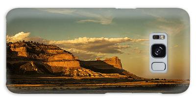 Sunset At Scotts Bluff National Monument Galaxy Case