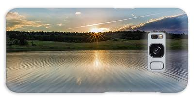 Sunset At The Mandelholz Dam, Harz Galaxy Case