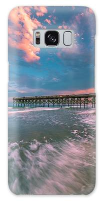 Galaxy Case featuring the photograph Sunset At Wilmington Crystal Pier In North Carolina by Ranjay Mitra