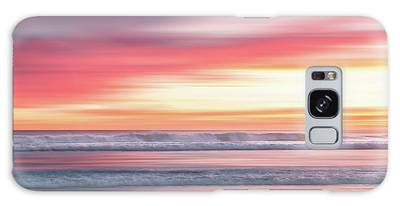 Galaxy Case featuring the photograph Sunset Blur - Pink by Patti Deters