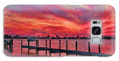 Sunset Impressionism Galaxy Case
