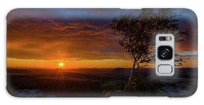 Sunset In Saxonian Switzerland Galaxy Case