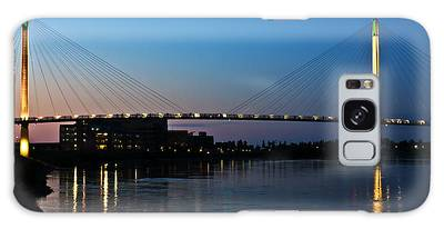 Sunset On The Bob Kerry Pedestrian Bridge Galaxy Case