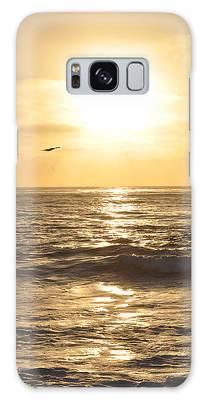 Sunset Pelican Silhouette Galaxy Case