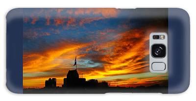 Sunset Ybor City Tampa Florida Galaxy Case