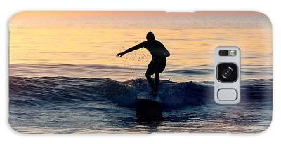 Surfer At Dusk Galaxy Case