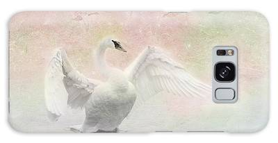 Galaxy Case featuring the photograph Swan Dream - Display Spring Pastel Colors by Patti Deters
