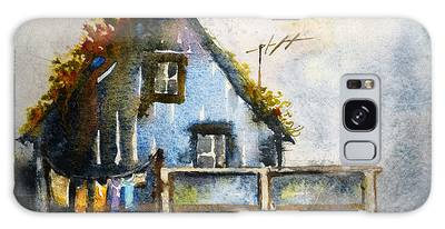 Thatched Roof Paintings Galaxy Cases