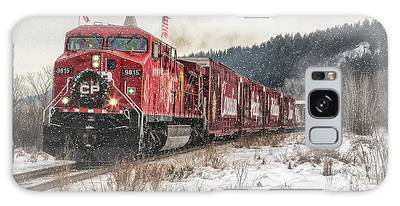 Galaxy Case featuring the photograph The Canadian Pacific Holiday Train by Brad Allen Fine Art