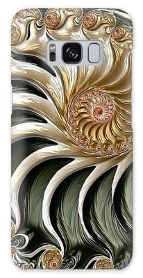 Galaxy Case featuring the digital art The Emerald Queen's Nautilus by Susan Maxwell Schmidt